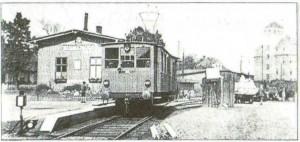 3. Wagon elektryczny nr 1 w lecie 1940 roku na stacji Wąbrzeźno Miasto