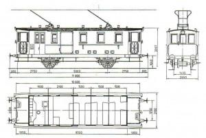 Wagon elektryczny z przedziałem pocztowym Kolei Powiatowej Wąbrzeźno